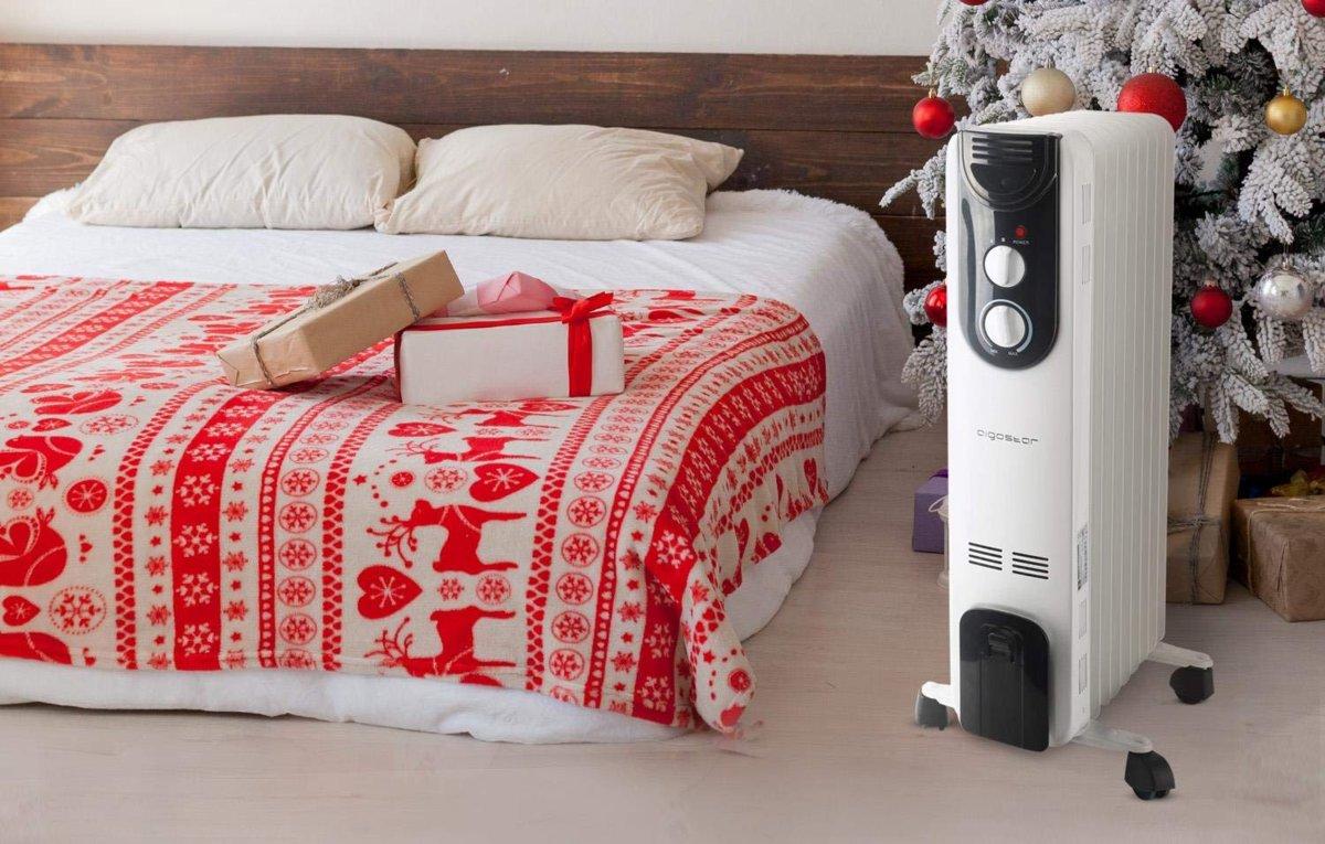 radiador de óleo na sala